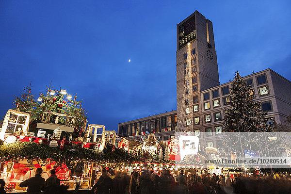 Nacht Halle Stadt
