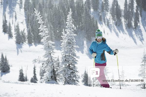 Skifahrer Hügel