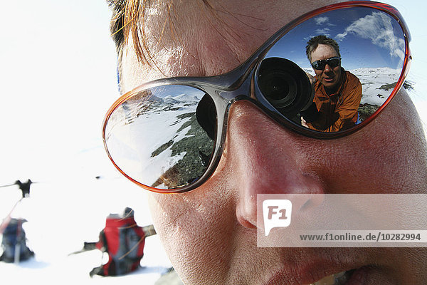Spiegelung Fotograf Sonnenbrille