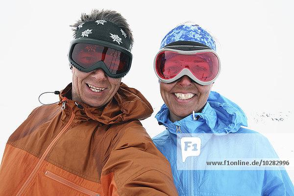lächeln Schutzbrille Skisport Kleidung