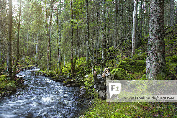 Junge - Person Menschlicher Vater Wald