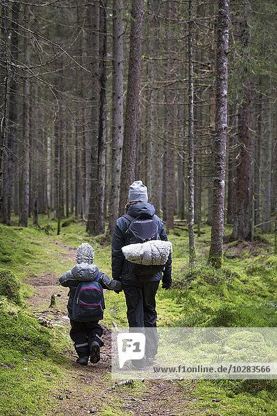 gehen Sohn Wald Mutter - Mensch