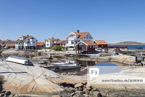 Gebäude, Boot, Meer