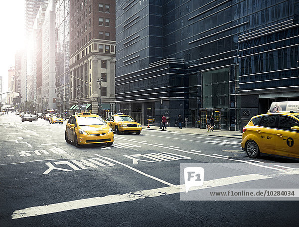 gelb Straße Taxi