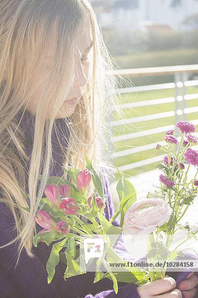 Blume halten Mädchen Blume,halten,Mädchen