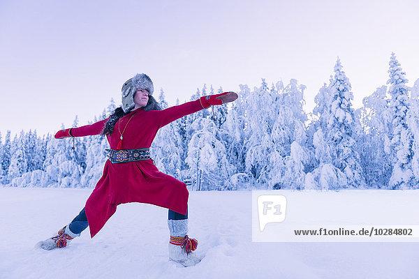 Frau lächeln Yoga