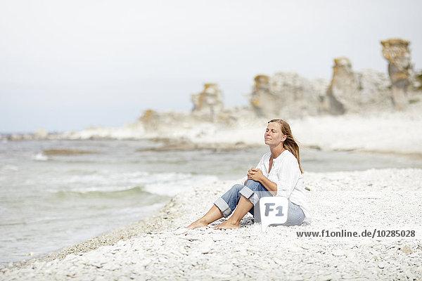 Frau Entspannung Strand