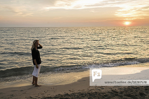 Sunset over sea  Puglia  Italy