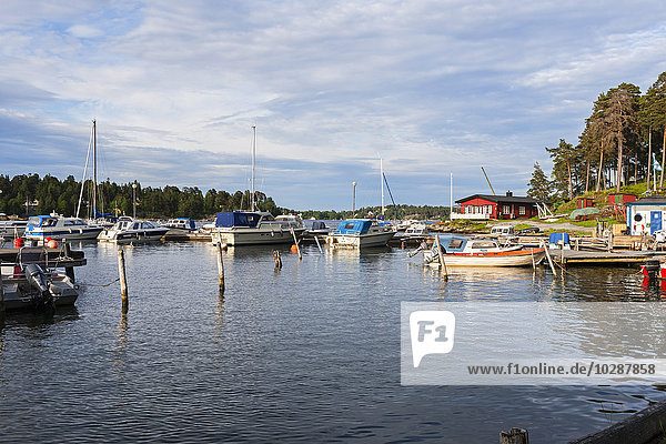 Sailboats in sea  Vaxholm  Stockholm  Sweden