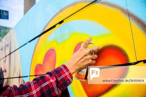 Graffiti-Künstler Sprühdose  Venice Beach  Kalifornien  USA