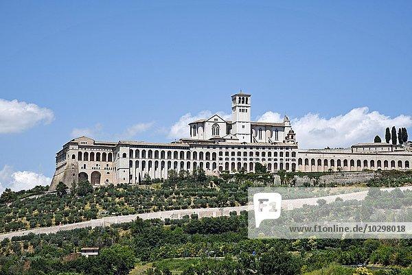 Basilika San Francesco  Assisi  Provinz Perugia  Umbrien  Italien  Europa