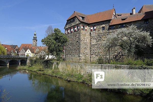 Wenzelschloss  Lauf an der Pegnitz  Mittelfranken  Bayern  Deutschland  Europa
