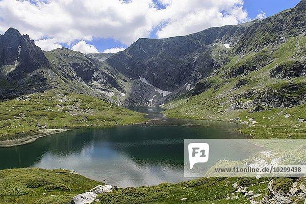 Landschaft  See  Berge  sieben Seen Platte  Rila Gebirge  Bulgarien  Europa
