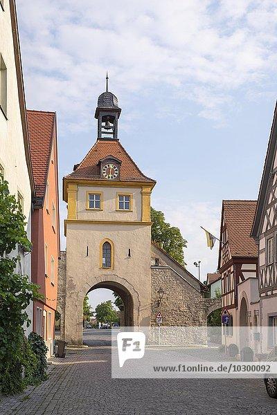 Ochsenfurter Tor  Sommerhausen  Mainfranken  Unterfranken  Franken  Bayern  Deutschland  Europa