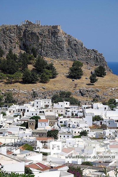 Acropolis of Lindos  Lindos  Rhodos  Doedekanes  Greece  Europe