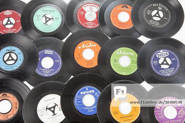 Old records  singles on vinyl