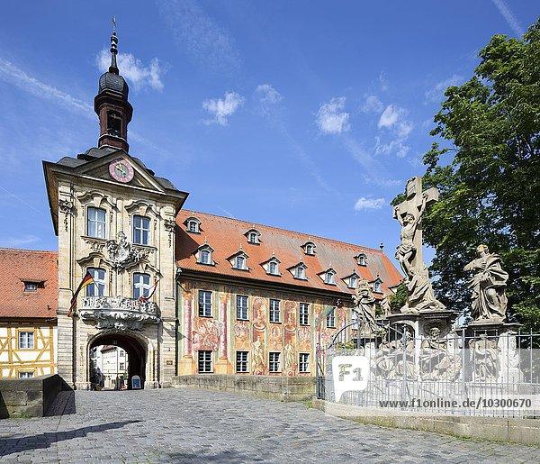 Altes Bamberger Rathaus  Bamberg  Oberfranken  Bayern  Deutschland  Europa