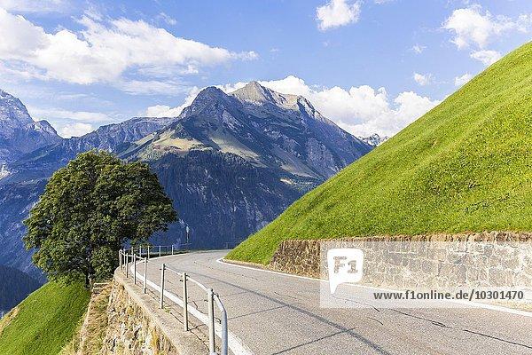 Passstraße Klausenpass  Schächental  Kanton Uri  Schweiz  Europa