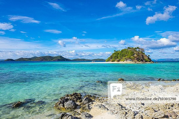 Insel Malacory vom Cauayan-Strand  Insel Bulalacao  Coron  Palawan  Philippinen  Asien
