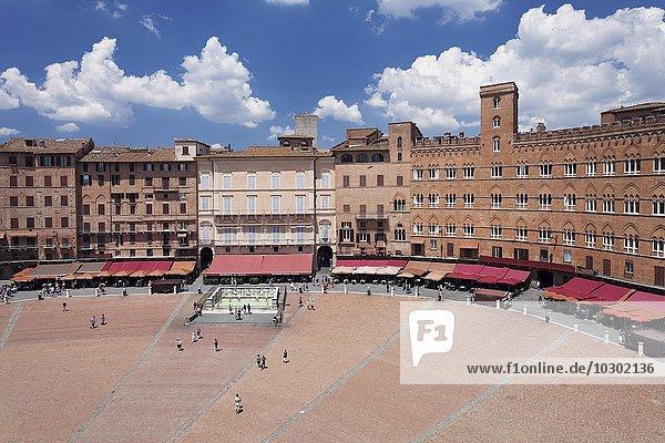 Piazza del Campo  UNESCO Weltkulturerbe  Siena  Toskana  Italien  Europa