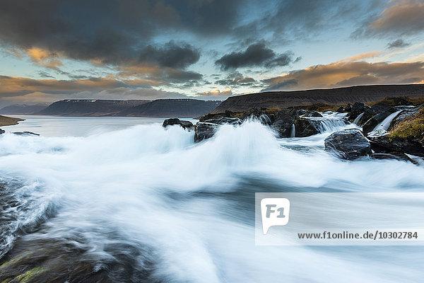 Dynjandi Foss waterfall  Westfjords  Iceland  Europe