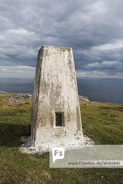 Trigonometrischer Punkt der Landvermessungsbehörde Ordnance Survey  Mull of Oa  Isle of Islay  Schottland  Großbritannien  Europa