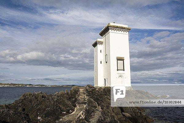 Port Ellen Leuchtturm  auch Carraig Fhada Leuchtturm  Port Ellen  Isle of Islay  Innere Hebriden  Schottland  Großbritannien  Europa