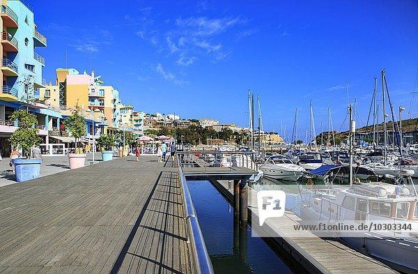 Hafen  Albufeira  Distrikt Faro  Portugal  Europa