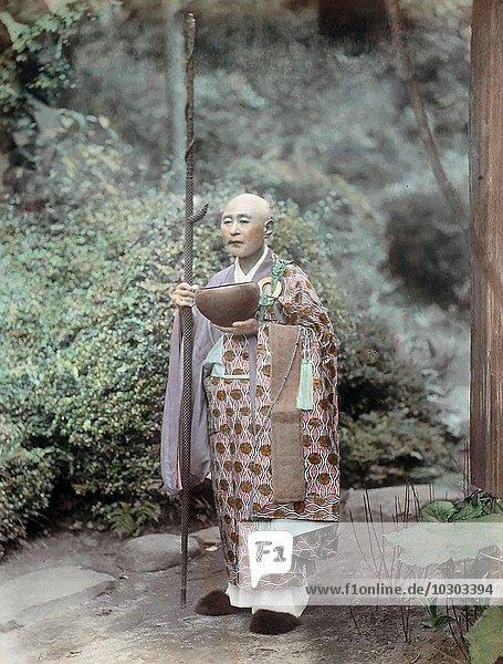 Buddhistischer Priester  Japan  Asien