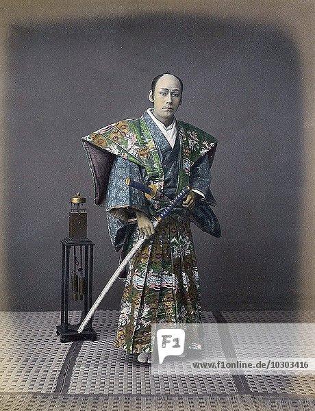 Samurai mit Schwert  Japan  Asien