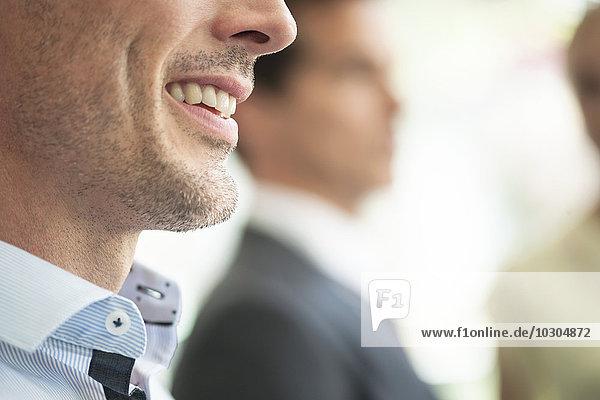 Geschäftsmann lächelnd  Nahaufnahme