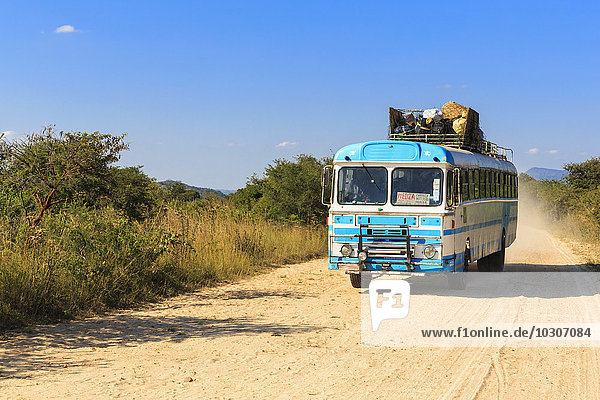 Zimbabwe  driving coach on a dirt road