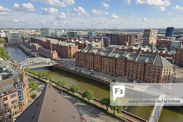 Deutschland  Hamburg  Stadtbild mit Speicherstadt