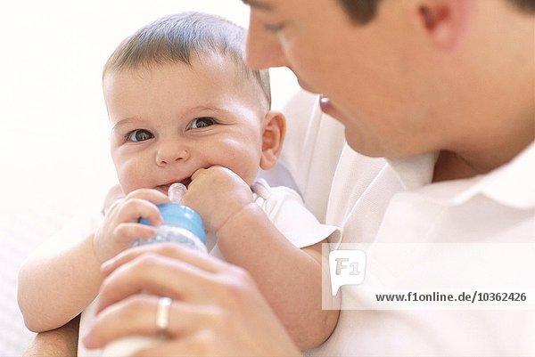 Menschlicher Vater Mädchen Baby