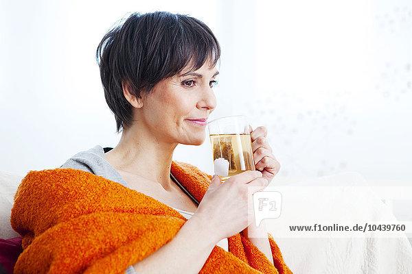 Frau Getränk Wärme