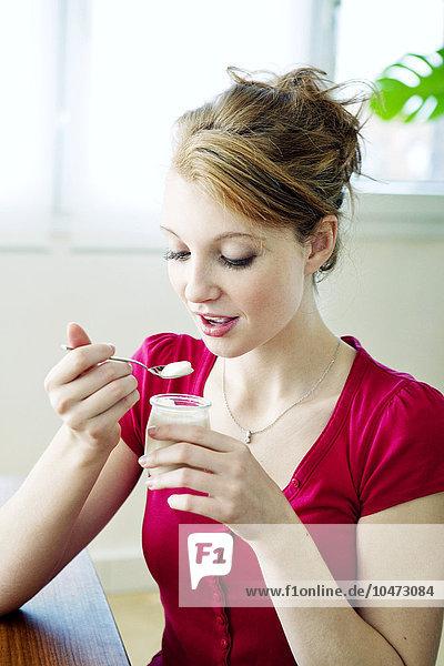 Milchprodukt Frau