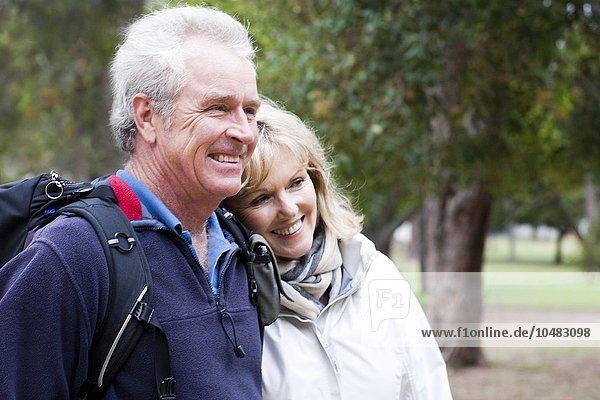 MODEL RELEASED. Active senior couple. Active senior couple