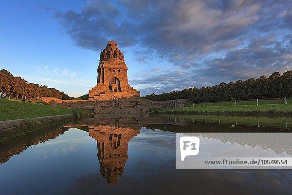 Völkerschlachtdenkmal  Leipzig  Sachsen  Deutschland  Europa
