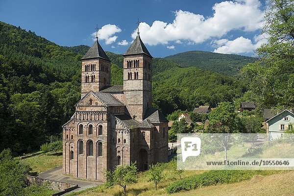 Kloster Murbach  bei Guebwiller  Elsass  Département Vosges  Frankreich  Europa