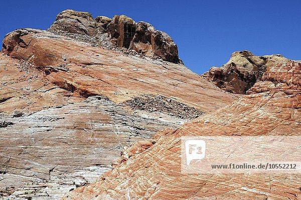 Farbige Sandsteinformationen  Valley of Fire State Park  Nevada  USA  Nordamerika