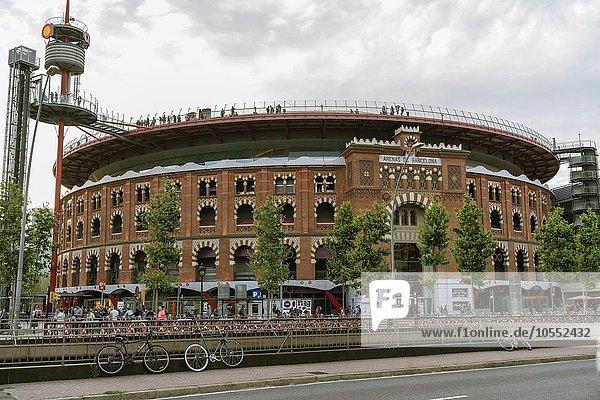 Ehemalige Stierkampfarena  Einkaufszentrum Arenas de Barcelona  Barcelona  Katalonien  Spanien  Europa