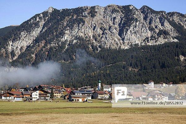 Ausblick auf Grän  Herbststimmung  Tannheimer Tal  Tirol  Österreich  Europa