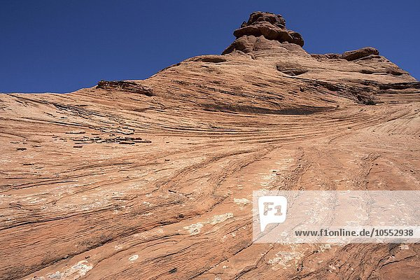 Felsformation  Strukturen im Fels  Nähe Garden of Eden  Arches National Park  Utah  USA  Nordamerika