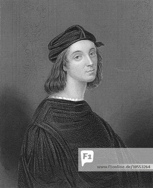 Portrait of the Italian painter and architect Raffael  Raffael da Urbino  Raffaello Santi  Raffaello Sanzio or Raphael