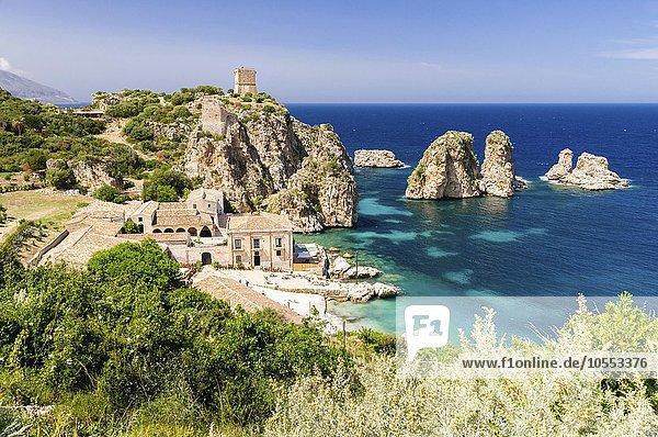 Tonnara di Scopello  Scopello  Castellammare del Golfo  Provinz Trapani  Sizilien  Italien  Europa