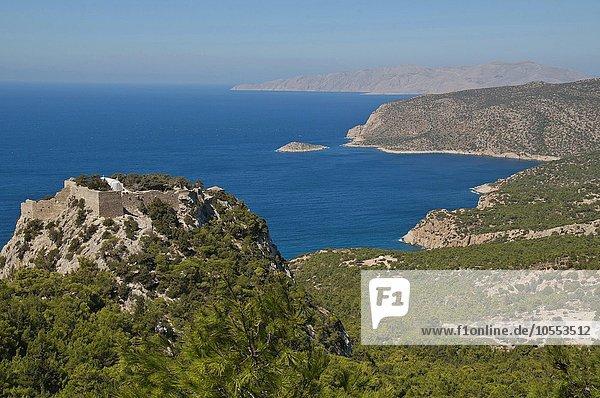 Kastell Kastro bei Monolithos  Rhodos  Dodekanes  Griechenland  Europa