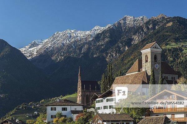 Bergdorf Schenna bei Meran  Trentino  Südtirol  Italien  Europa