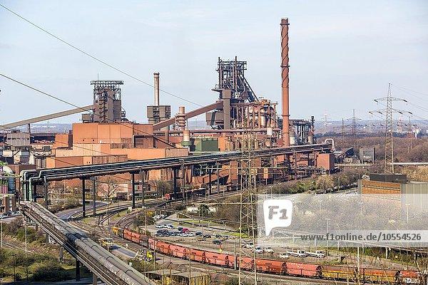 Stahlwerk mit Hochöfen Schwelgern 1 und 2  ThyssenKrupp Steel Europe  Hamborn  Duisburg  Nordrhein-Westfalen  Deutschland  Europa