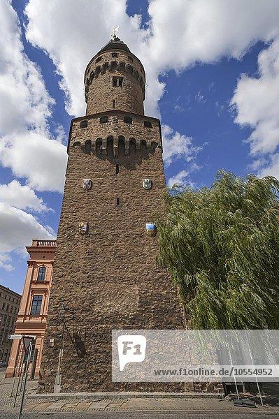 Reichenbacher Turm  Obermarkt  Görlitz  Oberlausitz  Sachsen  Deutschland  Europa