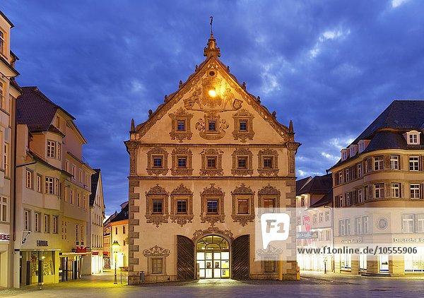 Lederhaus am Marienplatz  Ravensburg  Oberschwaben  Baden-Württemberg  Deutschland  Europa